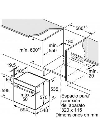 Horno Multifunción Balay 3HB5848B0 Pirolítico Blanco Cristal A