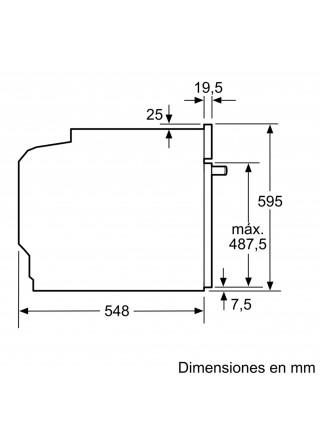 Horno multifunción Balay Serie Cristal 3HB5358B0 con mandos ocultables