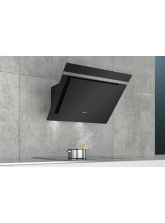CAMPANA SIEMENS INCLINADA CRISTAL NEGRO 80 cm 700 M3/h. TOUCH. LUCES LED