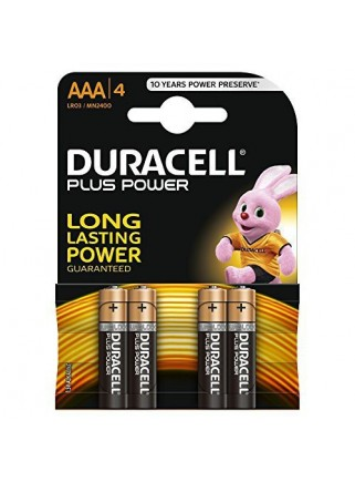 Pack 4 Pilas Duracell Plus...