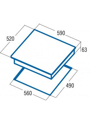 Placa de Inducción Cata IB 6203 WH 60cm 3 Zonas de Cocción