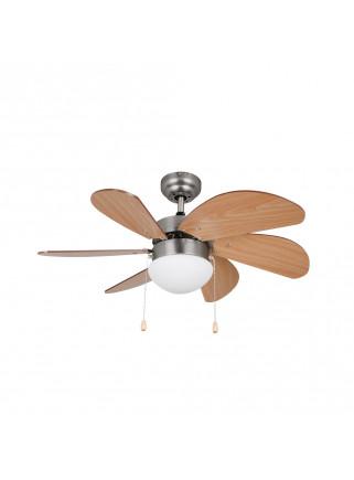 Ventilador de Techo Orbegozo CP 15075 N Plata 3 Velocidades 6 Aspas