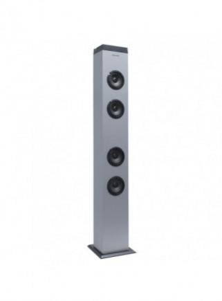 Altavoz Torre INFINITON ST-K20 Dark Silver 20W Bluetooth USB SD Radio FM Micrófono