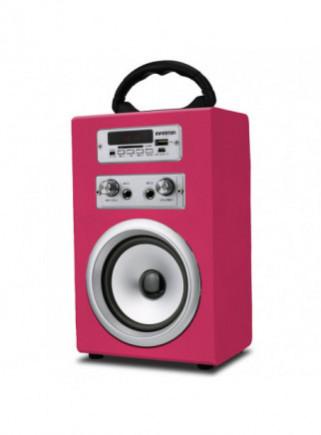 ALTAVOZ INFINITON KARAOKE K8 ROSA MICROFONO BLUETOOTH RADIO USB SD 5W