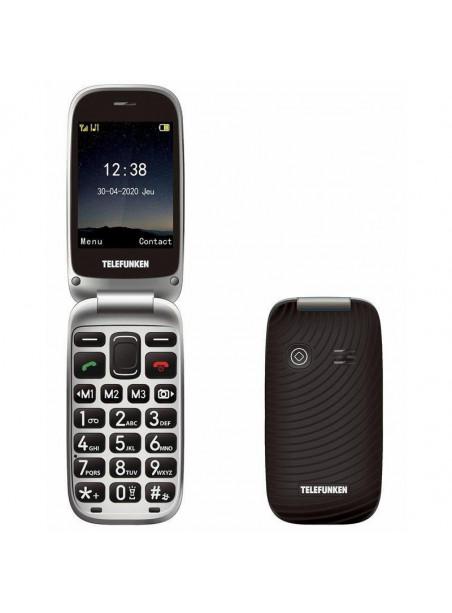 "TELEFONO TELEFUNKEN MOVIL TIPO CONCHA S540 2.8"" PARA PERSONAS MAYORES BOTON SOS BASE DE CARGA LOCALIZACION GPS FUNCION FOTA COLO"