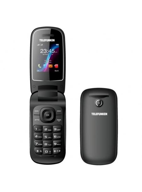 """TELEFONO TELEFUNKEN MOVIL TIPO CONCHA TM 18.1 1.8"""" PARA PERSONAS MAYORES COLOR NEGRO"""