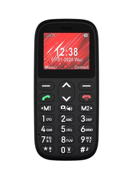 """TELEFONO TELEFUNKEN MOVIL S410 1.77"""" PARA PERSONAS MAYORES BOTON SOS BASE DE CARGA COLOR NEGRO"""