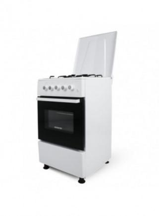 Cocina + Horno INFINITON CC5051HEB - Blanco, 4 Fuegos, 52 litros, ancho 50cm, Clase energética A