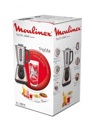 Batidora Moulinex LM320A Inox 500W 2 Velocidades Vidrio 2L