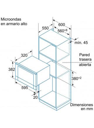 Microondas Grill Balay 3WG459XIC Inox Integrable 60CM 900/1300W