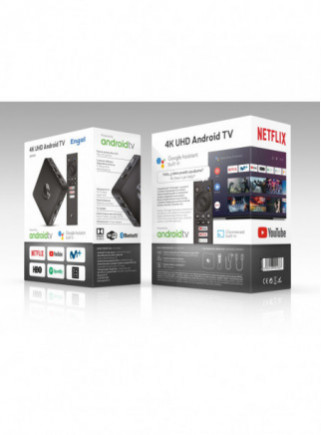 RECEPTOR ENGEL EN1015K  ANDROID TV BOX 4K HD CHROMECAST
