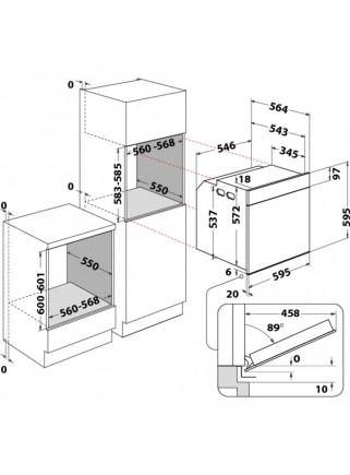 Horno Multifunción Whirlpool OAKZ9-379P Inox Pirolítico A+